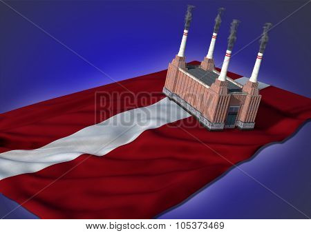 national heavy industry concept - Latvian theme
