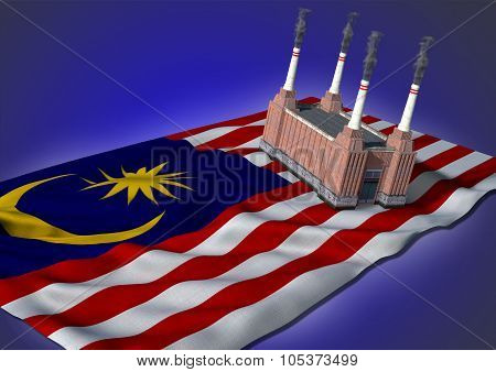 national heavy industry concept - Malaysian theme