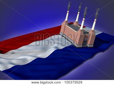 national heavy industry concept - Netherlandish theme