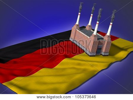 national heavy industry concept - German theme