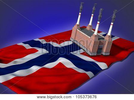 national heavy industry concept - Norwegian theme