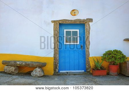 Detail of typical portuguese rural house with picturesque details