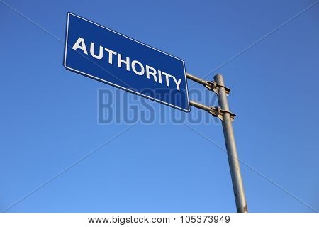 Authority Road Sign