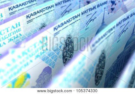 Kazakh Tenge Closeup