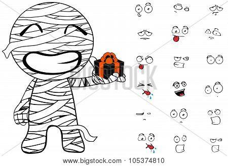 mummy cartoon emotions gift