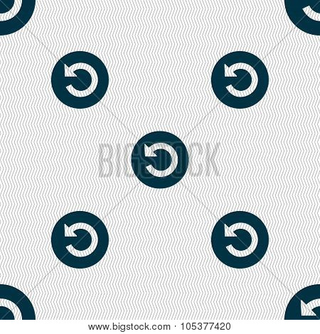 Upgrade, Arrow Icon Sign. Seamless Abstract Background With Geometric Shapes. Vector