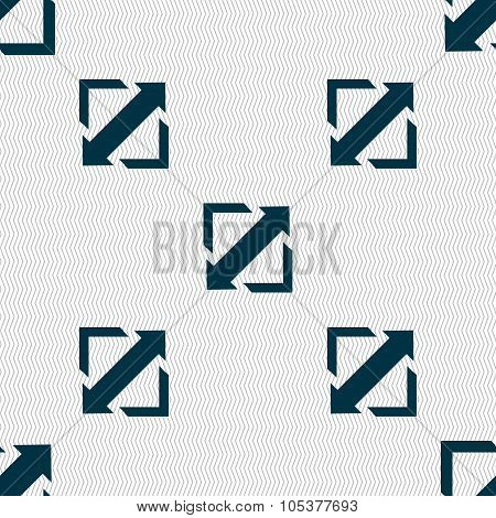 Deploying Video, Screen Size Icon Sign. Seamless Abstract Background With Geometric Shapes. Vector