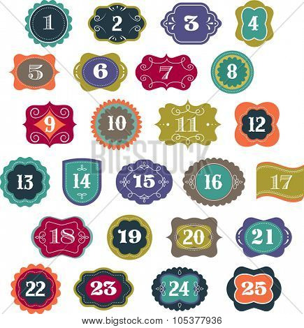 Advent Calendar - tags, labels and elements