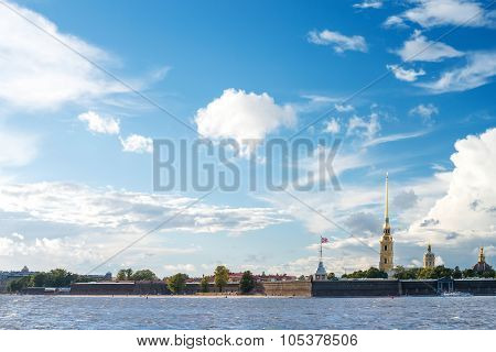 View Of The Peter And Paul Fortress In St.petersburg