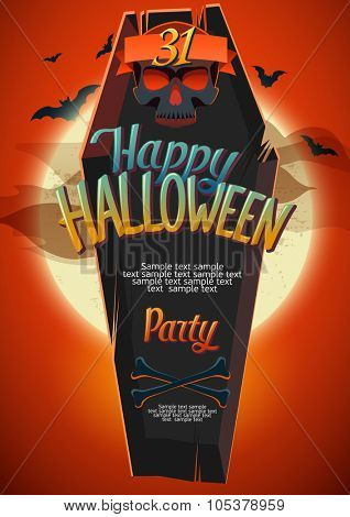 Halloween poster with space for text