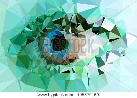 eye triangles design easy color editable