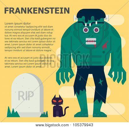 Frankenstein Vector Flat Illustration