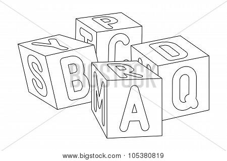 Kids cubes with letters.