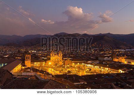 View of Plaza de Armas in Cusco