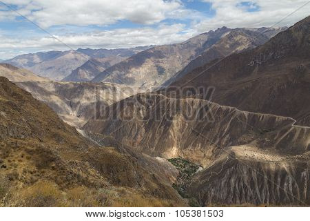 View of Sangalle Oasis in the Colca Canyon