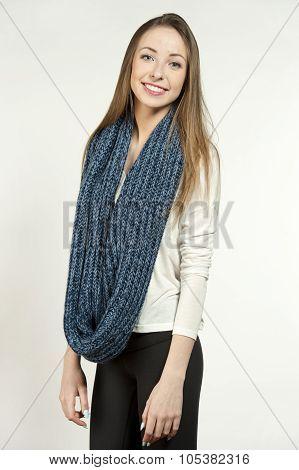 Young Happy Trendy Brunette
