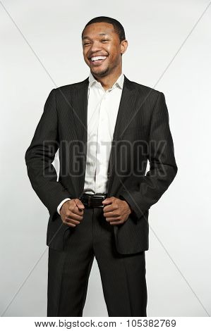 Formal Attire Black Male Laughing