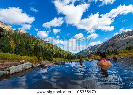 Girl In Conundrum Hot Springs