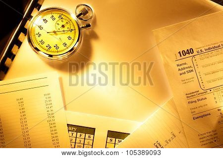 Budget, Calendar, Stopwatch And Audit