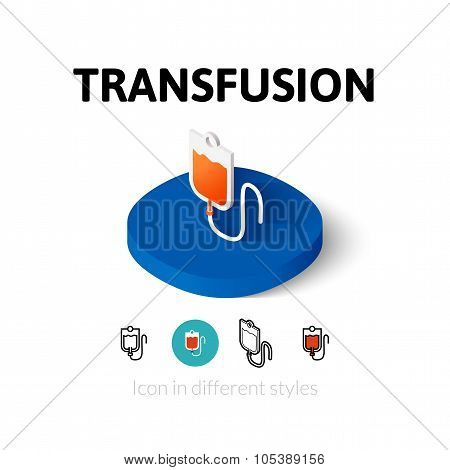 Transfusion icon in different style