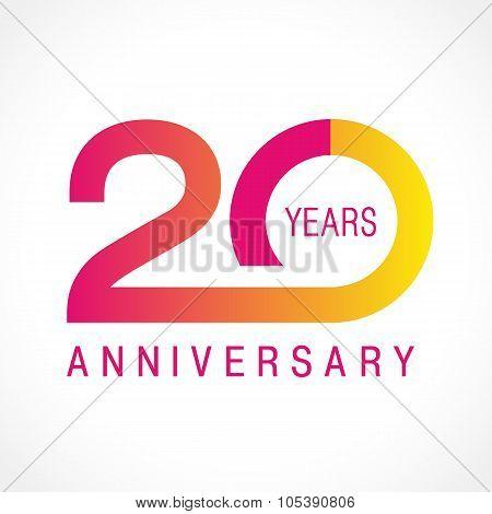 20 anniversary classic logo.