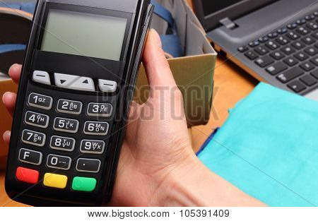 Use Payment Terminal For Paying For Purchases In Store