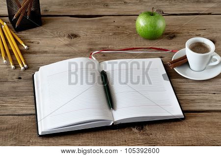 Open Diary With Blank Pages
