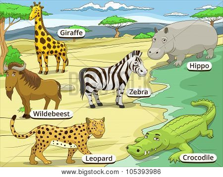 Educational game African savannah animals