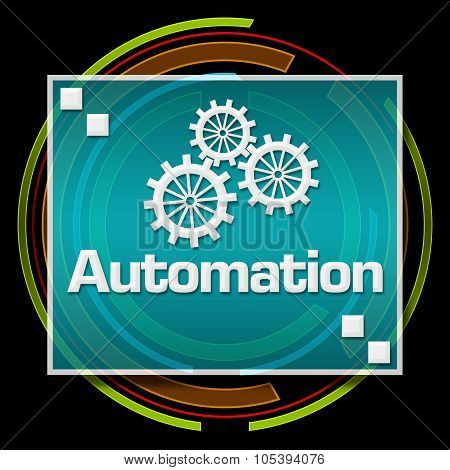 Automation Dark Colorful Technical Circle