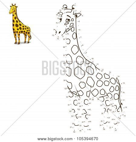 Connect the dots to draw animal