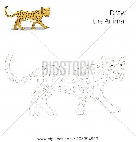 Draw the animal educational game leopard