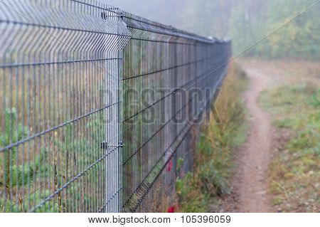 Long Security Metal Rod Fence