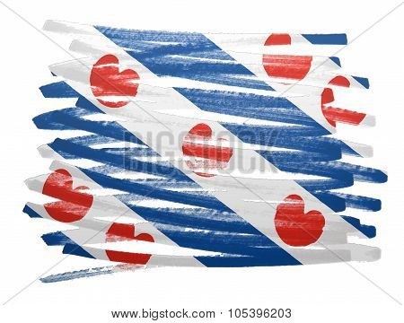 Flag Illustration - Friesland