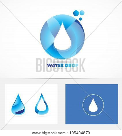 Water Drop Logo Icon