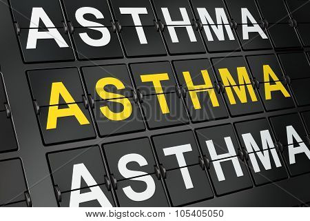 Health concept: Asthma on airport board background
