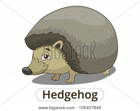 Forest animal hedgehog cartoon vector illustration