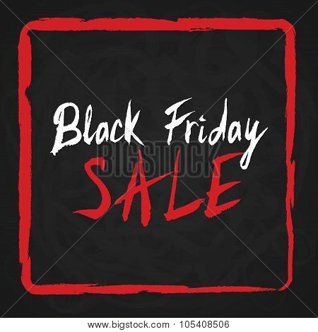 Black Friday Sale. Lettering On Chalkboard.