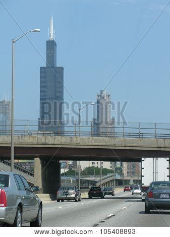 John Hancock building towering