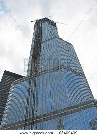 Trump Tower under construction
