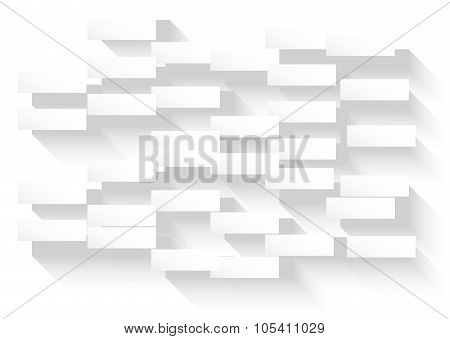 Abstract White Background With Glowing Rectangles For Your Business Cards Or Covers