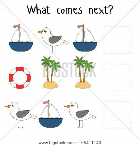 Educational game for children what comes next