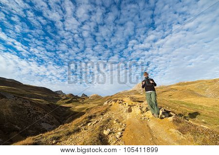 Adventures In The Alps In Autumn Season