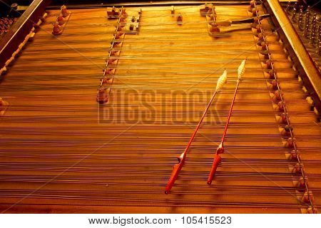 cimbalom very special string music instrument