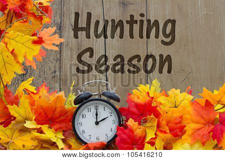 Time For Hunting Season