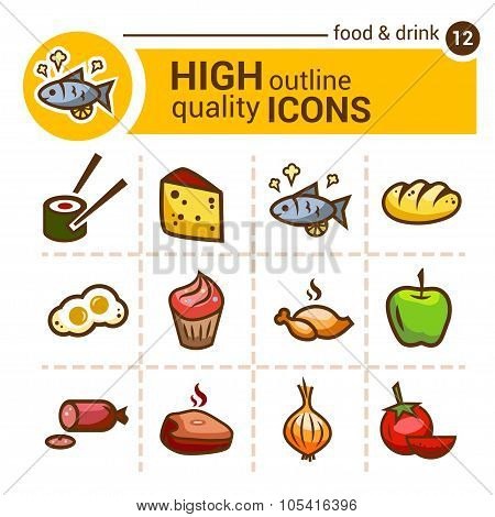 food color outline icons