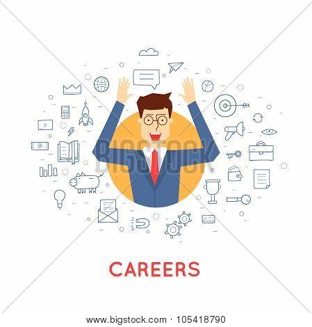 Successful career businessman.