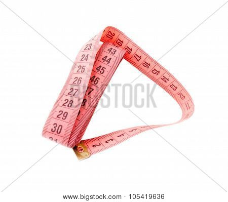 Measuring tape isolated on white.