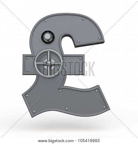3d pound symbol metal safe