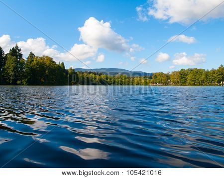 Babylon Pond and Cerchov Mountain in Bohemian Forest