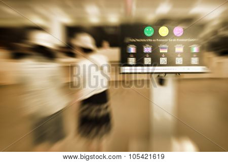 Abstract Background. France, Aix-en-provence. Tourist Information Centre. Radial Zoom Blur Effect De